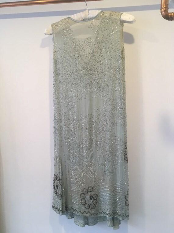 Vintage 1920s Flapper Beaded Dress. - image 2