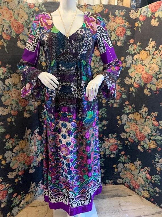 1970s Bold Print Maxi Dress by Colin Glascoe