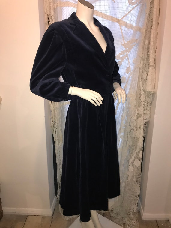Mary Quant Blue Velvet Skirt Suit