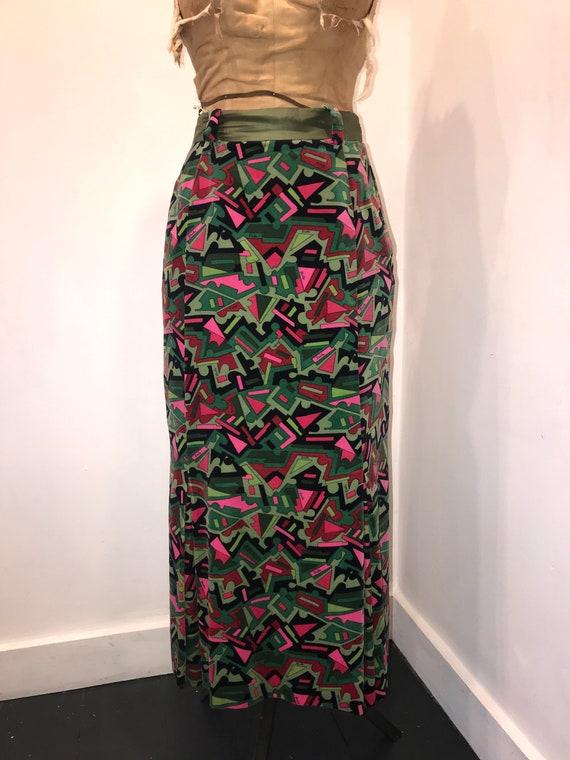 Emilio Pucci 1960s Velvet Maxi Skirt