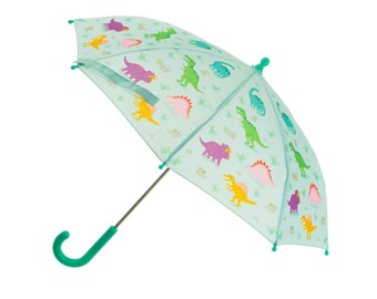 White Unicorn Kids Umbrella Personalised with a Name in 2 colour print