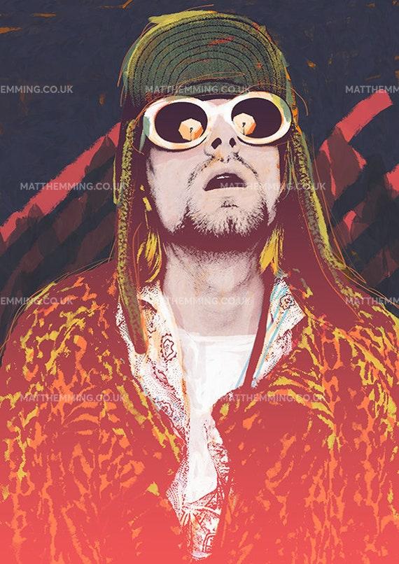 A3 Kurt Cobain Vintage Poster A4 sizes A1 A2