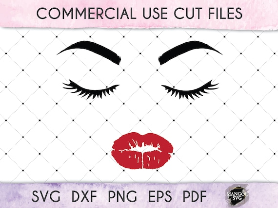 Lady Face Svg Eyelashes Lips Svg Makeup Svg Girl Svg Lady Etsy