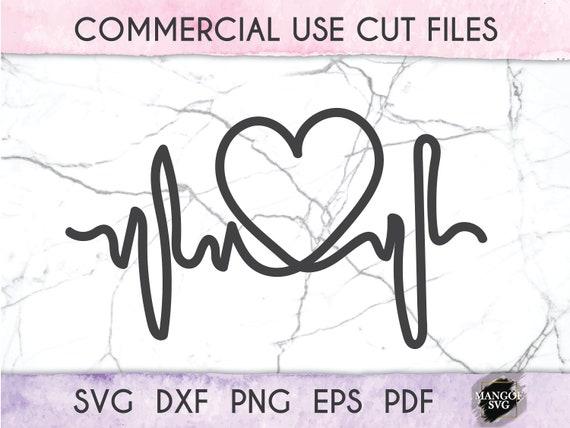 Heartbeat Svg Heart Svg Ekg Svg Heartbeat Line Svg Love Etsy