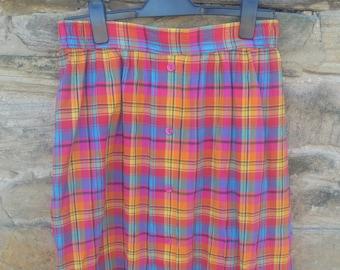 1980s St Michaels rainbow skirt
