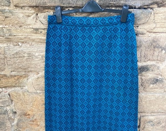 1970s welsh tapestry style maxi skirt