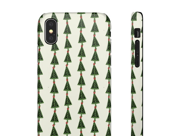 Christmas Tree Phone Case - Festive Phone Case - Iphone X Case - Samsung Phone Case - Slim Phone Case - Gift for Mom - Holiday Uniqu