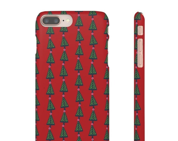 Christmas Tree Phone Case -Festive Phone Case -  Iphone X Case - Samsung Phone Case - Slim Phone Case - Gift for Mom - Holiday Unique Case