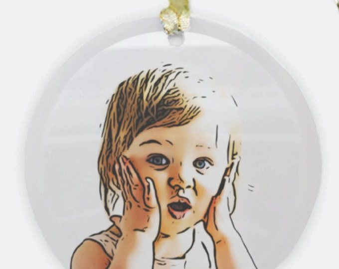 Featured listing image: Child Portrait Ornament
