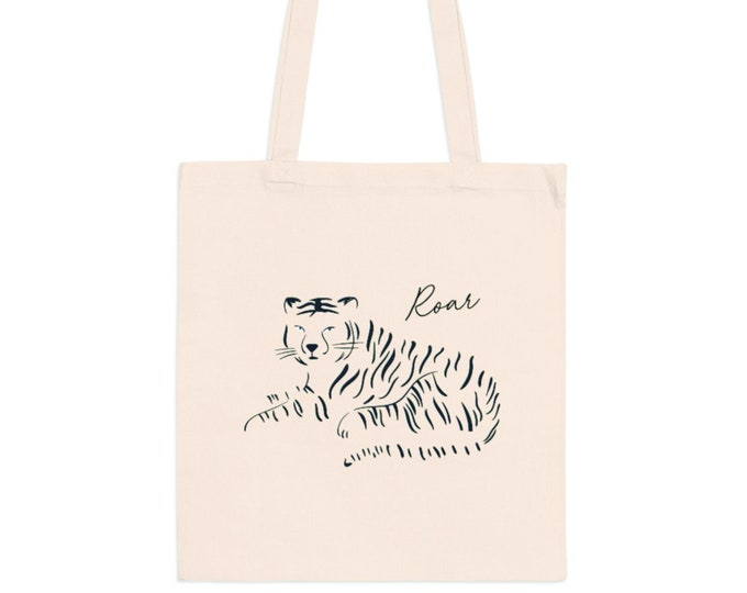 Roar! Tiger Canvas Tote Bag
