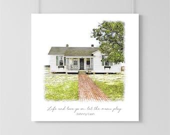 Johnny Cash's Childhood Home