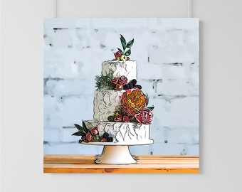 Custom Wedding Cake Illustration