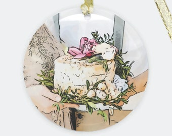 Custom Wedding Cake Ornament