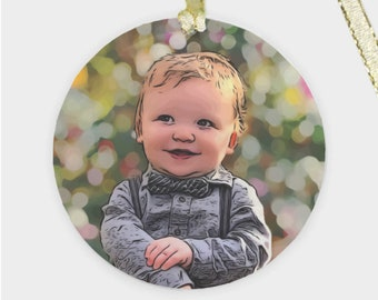 Child Portrait Ornament