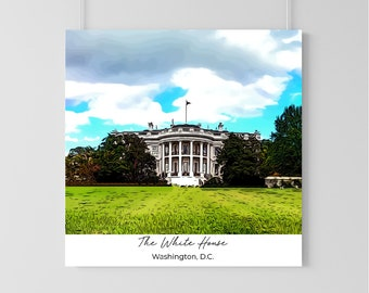 The White House Art Print