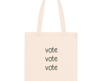 Vote Canvas Tote Bags - Reusable Grocery Bag - Canvas Carry All - Book Bag - Get Out the Vote - Vote Like a Girl - Election 2020 Bag - Vote