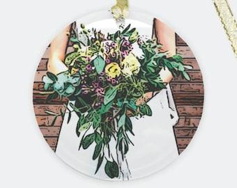 Custom Wedding Bouquet Ornament