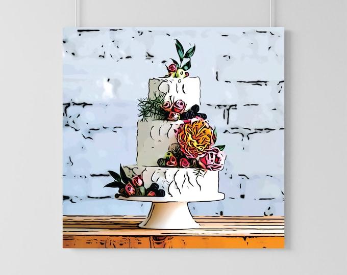 Featured listing image: Custom Wedding Cake Illustration