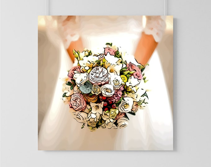 Custom Wedding Bouquet Illustration
