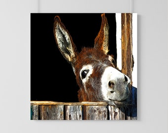 Cute and Sassy Donkey Illustration