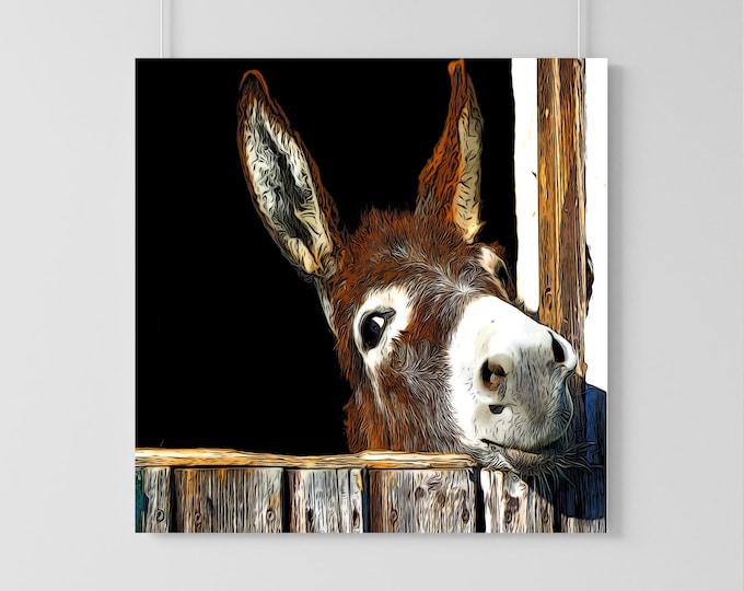 Cute and Sassy Donkey Illustration