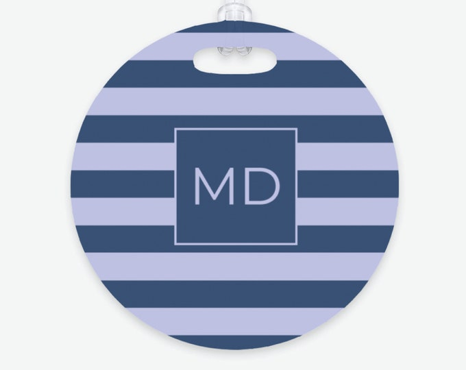 Colorful Monogram Luggage Tag