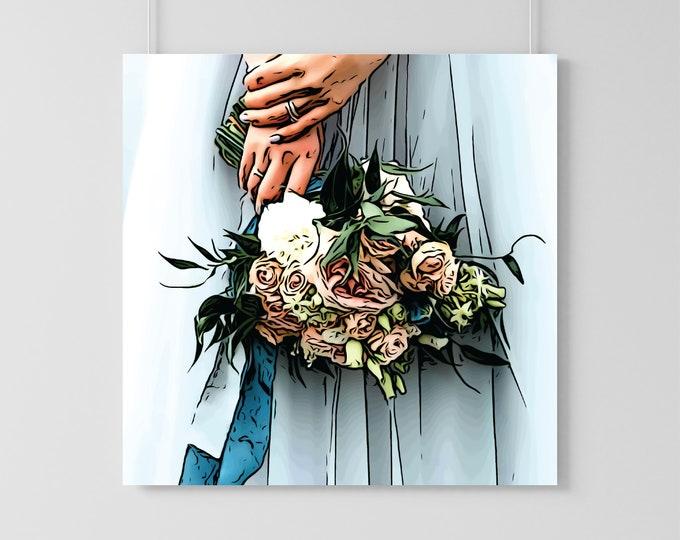 Featured listing image: Custom Wedding Bouquet Illustration