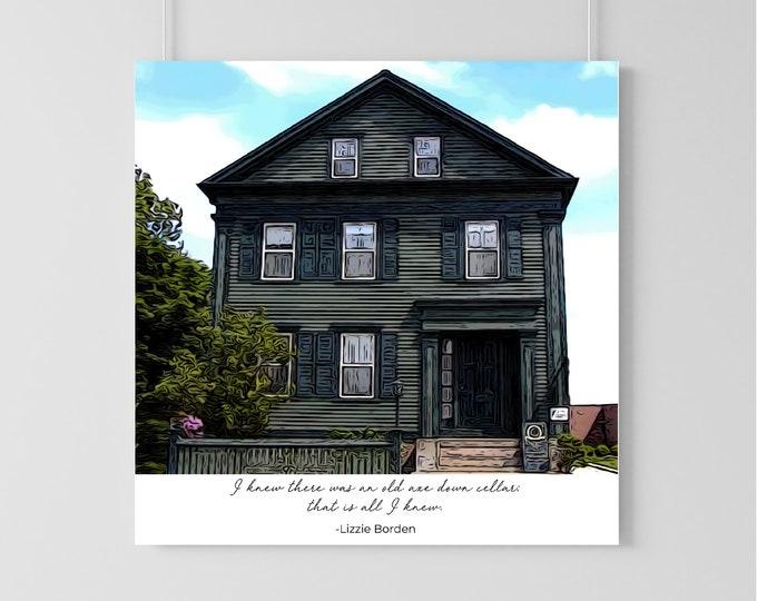 Lizzie Borden House Print