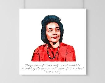 Coretta Scott King Art Print