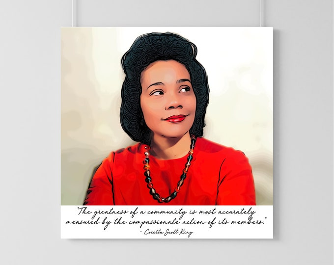 Coretta Scott King Art Print