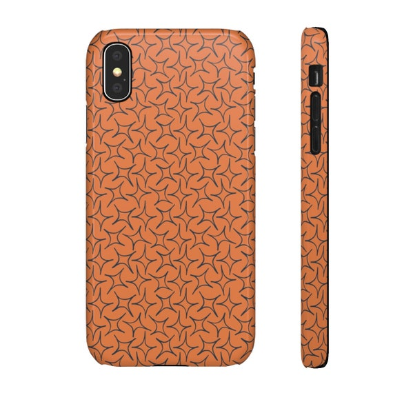 Orange Eastern Star Phone Case - Iphone Cover - Iphone X Case - Samsung Phone Case - Slim Phone Case - Unique Boho Star Case - Pumpkin Spice
