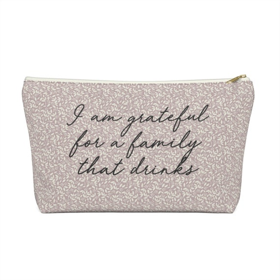 So Grateful! - Lavender Make up bag - Purple Pencil Case - Funny Saying Pouch - Sister Gift - Witty Saying - Stocking Stuffer