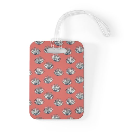 Pink Palm Luggage Tag