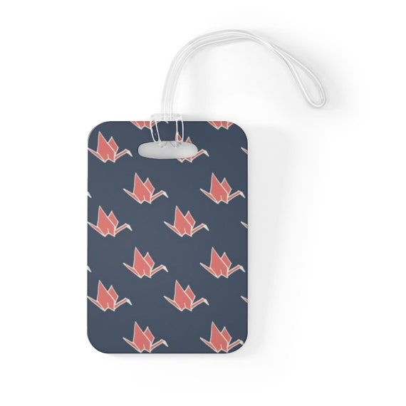 Origami Crane Luggage Tag