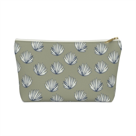 Palms Pouch - Make up bag - Pencil Case - Perfect size - Navy Palm Tree - Army Green Case - Tropical Bag - Army Green Pencil Case - Cute Bag