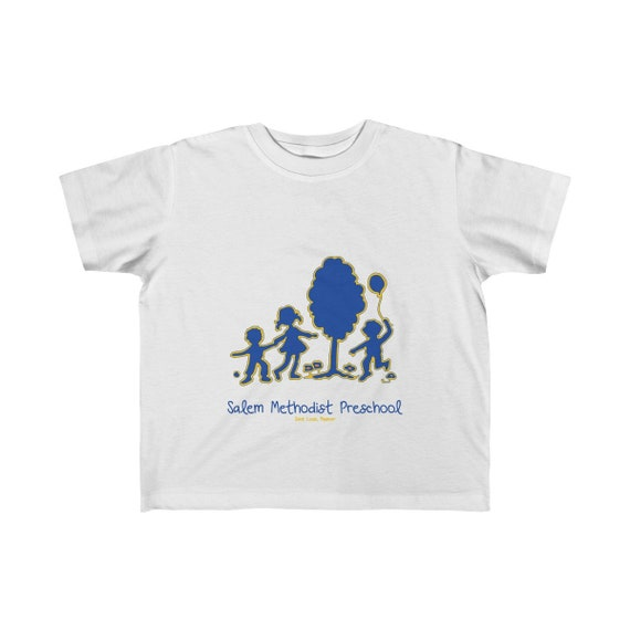 Toddler Sized Salem Methodist Preschool Colorful LogoT-Shirt