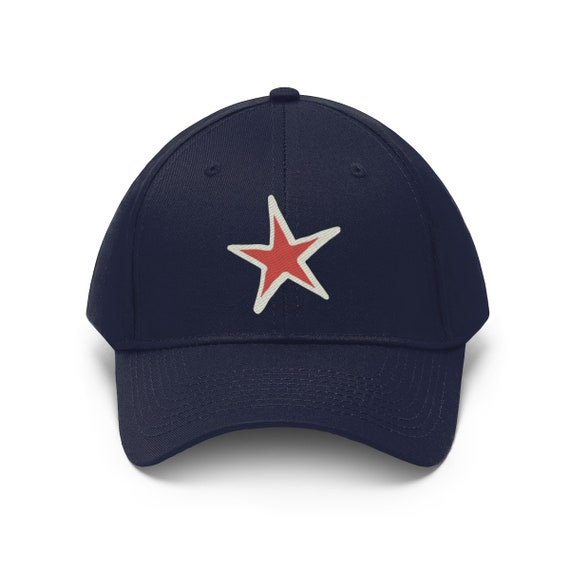 Embroidered Star Twill Hat