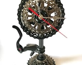 Bicycle clock, table bike clock, bicycle, bike clock, gift for cyclist, metal clock, table clock, decor on the table.