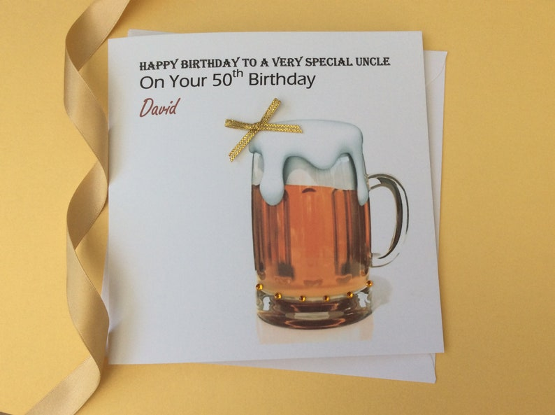 HANDMADE PERSONALISED BIRTHDAY CARD 18TH 21ST 40th DAD SON  GRANDSON  BROTHER