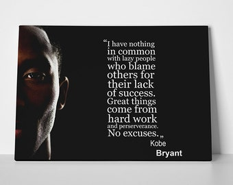 official photos 10508 9f657 Kobe Bryant Quote Poster, Banner or Canvas
