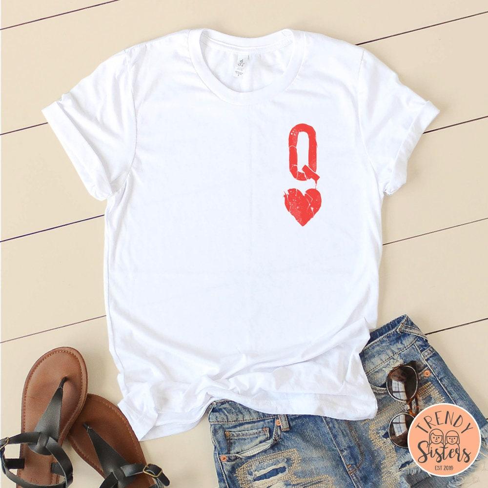 Queen Of Hearts Tee 2 Queen Tee The Queen Of Hearts Tee Red Queen Queen Shir. Women Tees Graphic Tees Gifts For Her Bella Canvas Unisex Tshirt