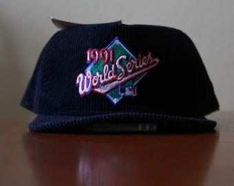 check out 38981 dfa53 Minnesota Twins 1991 Snapback Corduroy Hat Navy