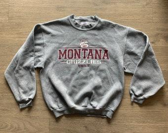 Large Size Vintage University of Montana Grizzlies Fleece /& Nylon Weatherproof Jacket