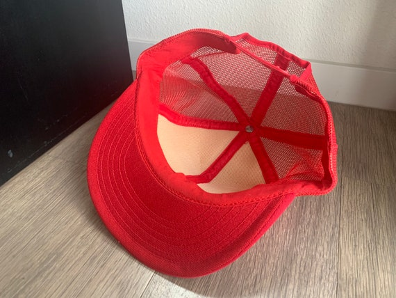 Vintage Four Seasons Red Trucker Snapback Hat - image 7