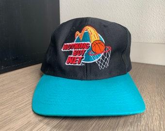 Vintage 1993 Nothing But Net McDonalds Black and Teal Snapback Hat