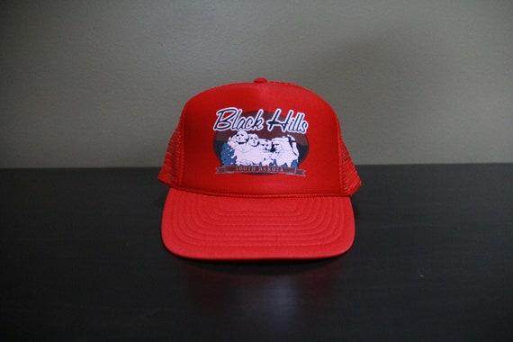 Vintage Black Hills Red Mesh Trucker Snapback Hat