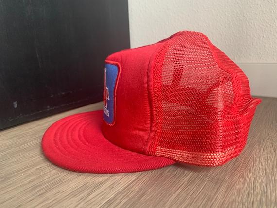 Vintage Four Seasons Red Trucker Snapback Hat - image 3