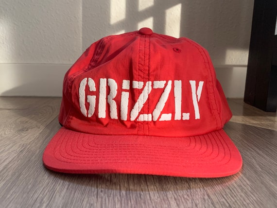 Grizzly Starter Brand Red Snapback Prototype Hat P