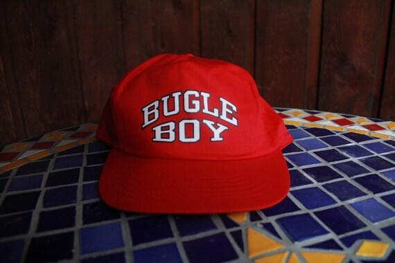 Vintage Bugle Boy Red Snapback Hat