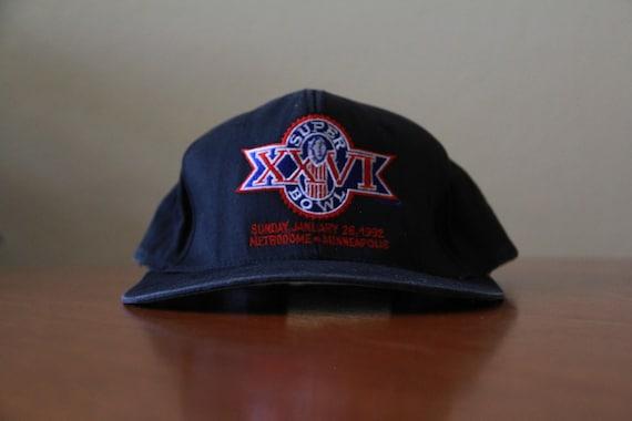 Vintage Superbowl XXVI Red Font Snapback Hat